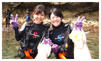 Diving tour end